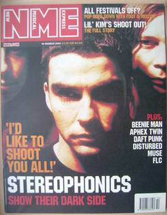 <!--2001-03-10-->NME magazine - Stereophonics cover (10 March 2001)