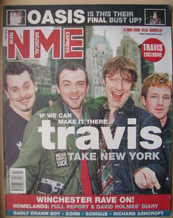 <!--2000-06-03-->NME magazine - Travis cover (3 June 2000)