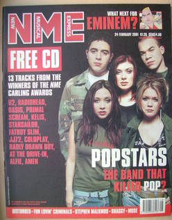 <!--2001-02-24-->NME magazine - Hear'Say cover (24 February 2001)