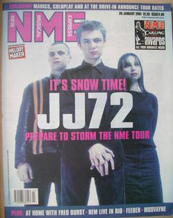<!--2001-01-20-->NME magazine - JJ72 cover (20 January 2001)