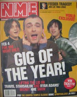 <!--2002-01-19-->NME magazine - James Walsh, Fran Healy and Ryan Adams cove