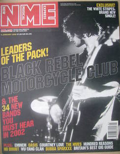 <!--2002-01-05-->NME magazine - Black Rebel Motorcycle Club cover (5 Januar