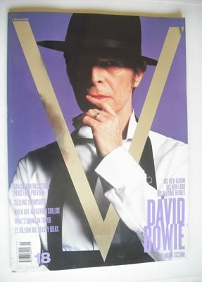 <!--2002-07-->V magazine - July/August 2002 - David Bowie cover