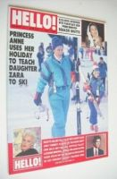 <!--1989-01-14-->Hello! magazine - Princess Anne and Zara Phillips cover (14 January 1989 - Issue 34)