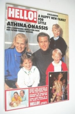 <!--1989-03-25-->Hello! magazine - Athina Onassis cover (25 March 1989 - Is