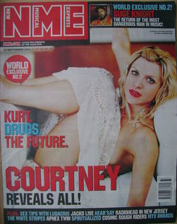 <!--2001-09-15-->NME magazine - Courtney Love cover (15 September 2001)
