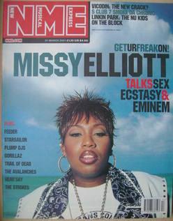 NME magazine - Missy Elliott cover (31 March 2001)