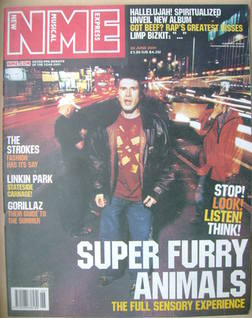 <!--2001-06-30-->NME magazine - Super Furry Animals cover (30 June 2001)