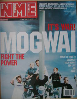 <!--2001-05-05-->NME magazine - Mogwai cover (5 May 2001)