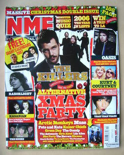 <!--2006-11-16-->NME magazine - The Killers cover (16/23 December 2006)