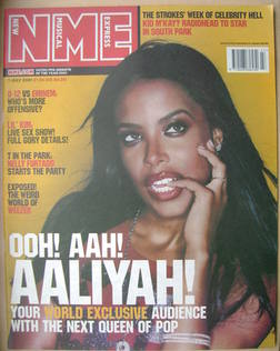<!--2001-07-07-->NME magazine - Aaliyah cover (7 July 2001)