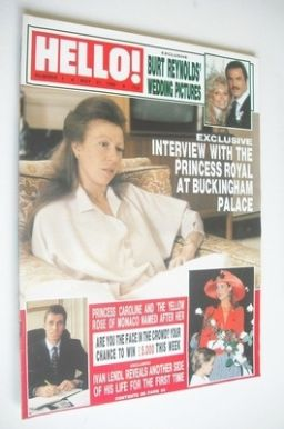 <!--1988-05-21-->Hello! magazine - Princess Anne cover (21 May 1988 - Issue
