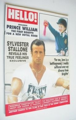 <!--1988-05-28-->Hello! magazine - Sylvester Stallone cover (28 May 1988 -