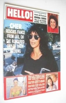 <!--1988-08-06-->Hello! magazine - Cher cover (6 August 1988 - Issue 12)