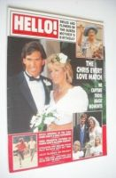 <!--1988-08-13-->Hello! magazine - Chris Evert and Andy Mill wedding cover (13 August 1988 - Issue 13)