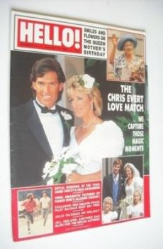 Hello! magazine - Chris Evert and Andy Mill wedding cover (13 August 1988 - Issue 13)