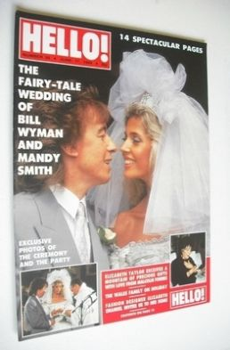<!--1989-06-17-->Hello! magazine - Bill Wyman and Mandy Smith wedding cover