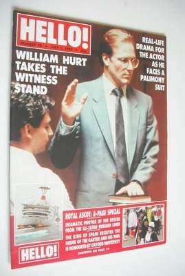 <!--1989-07-01-->Hello! magazine - William Hurt cover (1 July 1989 - Issue