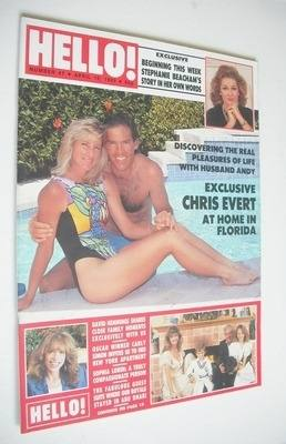 <!--1989-04-15-->Hello! magazine - Chris Evert cover (15 April 1989 - Issue