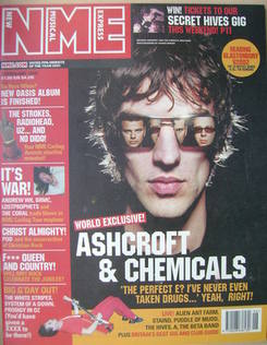 <!--2002-02-09-->NME magazine - Richard Ashcroft cover (9 February 2002)