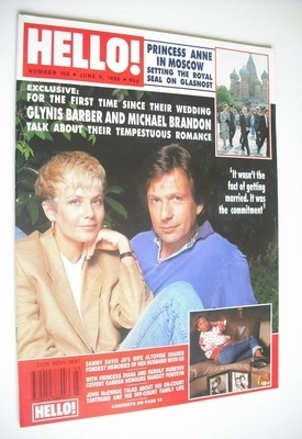 <!--1990-06-09-->Hello! magazine - Glynis Barber and Michael Brandon cover