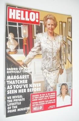 <!--1989-11-11-->Hello! magazine - Margaret Thatcher cover (11 November 198