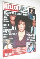 <!--1990-12-15-->Hello! magazine - Elizabeth Taylor cover (15 December 1990 - Issue 132)