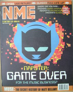 NME magazine - Napster: Game Over cover (10 June 2000)
