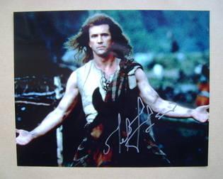 Mel Gibson autograph