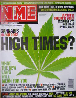 <!--2001-11-17-->NME magazine - High Times? cover (17 November 2001)