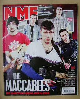 <!--2010-02-27-->NME magazine - The Maccabees cover (27 February 2010)