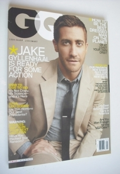 US GQ magazine - May 2010 - Jake Gyllenhaal cover