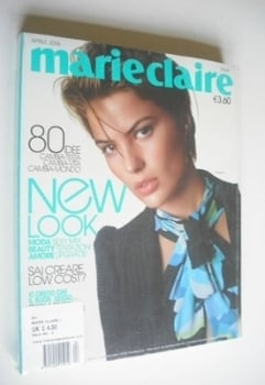 Italian Marie Claire magazine - April 2006 - Cameron Russell cover
