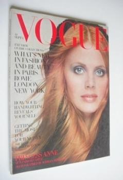 British Vogue magazine - 1 September 1969 - Britt Ekland cover