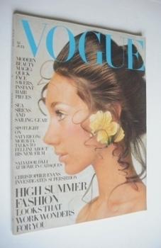 British Vogue magazine - July 1969 (Vintage Issue)