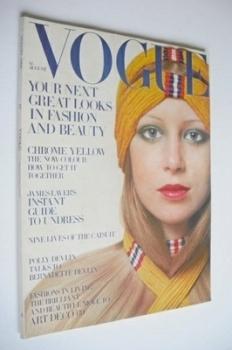 British Vogue magazine - August 1969 - Patti Boyd cover