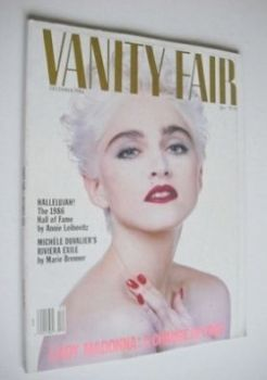 US Vanity Fair magazine - Madonna cover (December 1986)