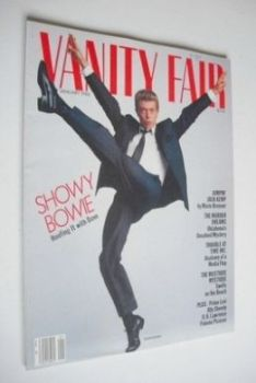 US Vanity Fair magazine - David Bowie cover (January 1986)