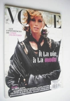 French Paris Vogue magazine - August 2002 - Cindy Crawford cover