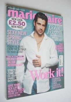 British Marie Claire magazine - February 2005 - Colin Farrell cover