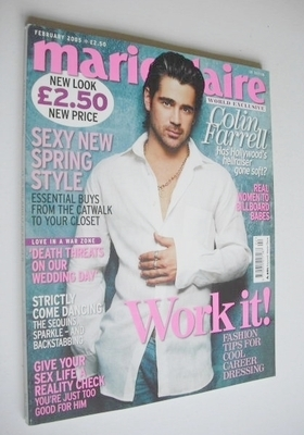 <!--2005-02-->British Marie Claire magazine - February 2005 - Colin Farrell