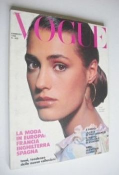 Vogue Italia magazine - February 1988 - Yasmin Le Bon cover
