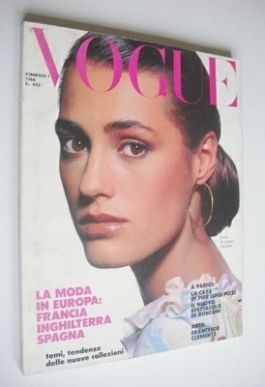 <!--1988-02-->Vogue Italia magazine - February 1988 - Yasmin Le Bon cover