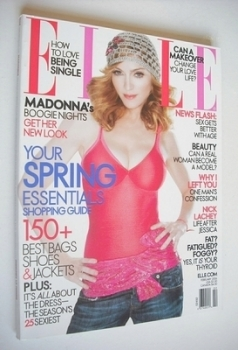 US Elle magazine - February 2006 - Madonna cover