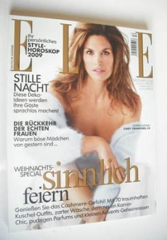German Elle magazine - December 2008 - Cindy Crawford cover