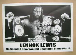Lennox Lewis autograph