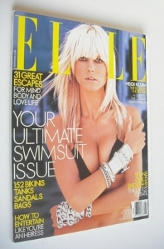 US Elle magazine - May 2003 - Heidi Klum cover