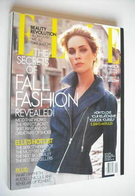 <!--2003-09-->US Elle - September 2003 - Erin Wasson cover