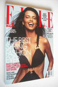 US Elle magazine - March 2003 - Adriana Lima cover