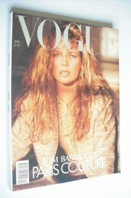 <!--1989-04-->British Vogue magazine - April 1989 - Kim Basinger cover